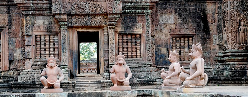 Les statues des temples Angkor Wat - Voyage au Cambodge