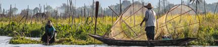 Voyage en Birmanie - Pêcheurs du lac Inle