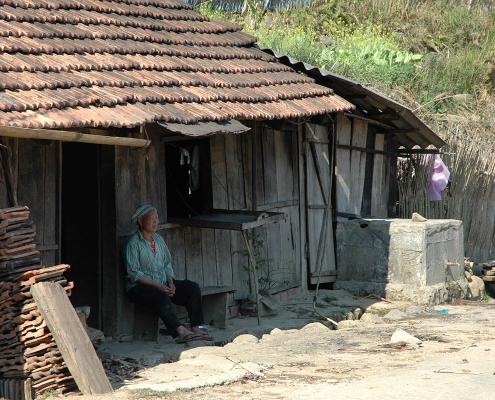 Village dans la région de Ba Be