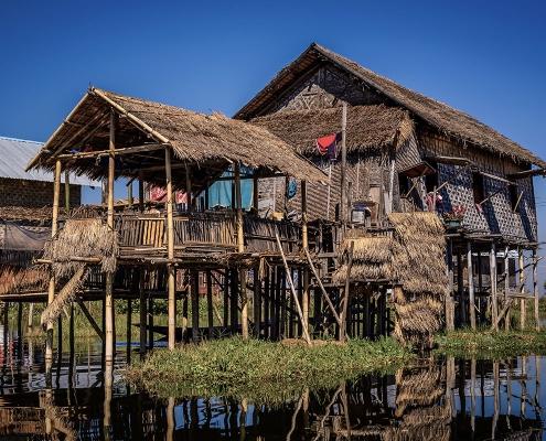 Maison sur le lac Inlé