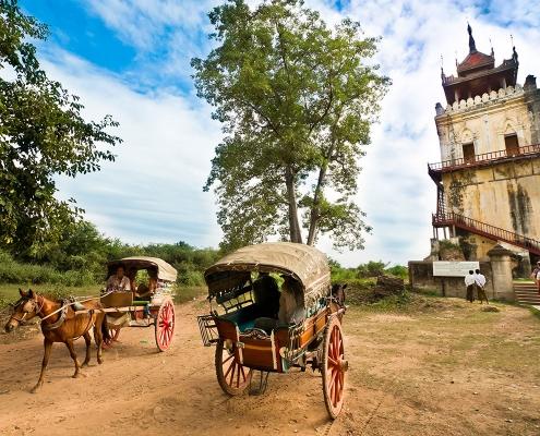Dans les environs de Mandalay en Birmanie