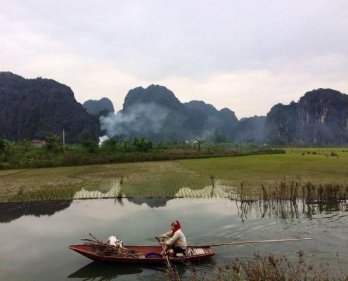 Balade en bateau à Ninh Binh