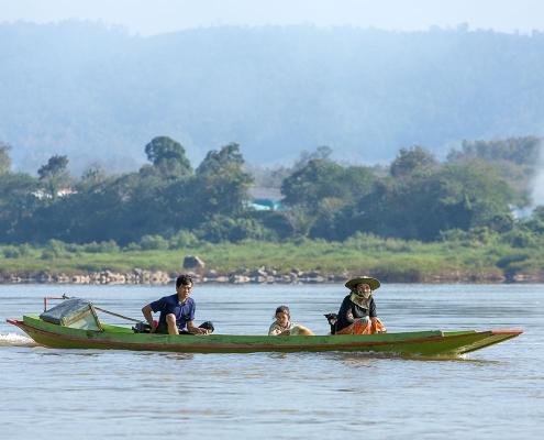 Balade en bateau à Pakbeng