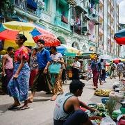 Les marchés de Rangoun