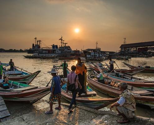 Coucher de soleil à Rangoun