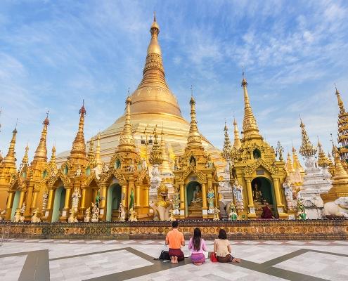 La pagode Shwedagon de Rangoun