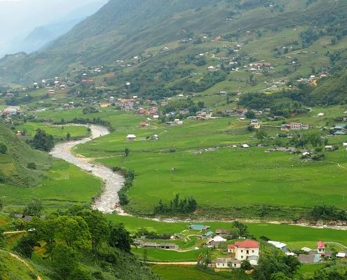 Vallée dans la région de Sapa