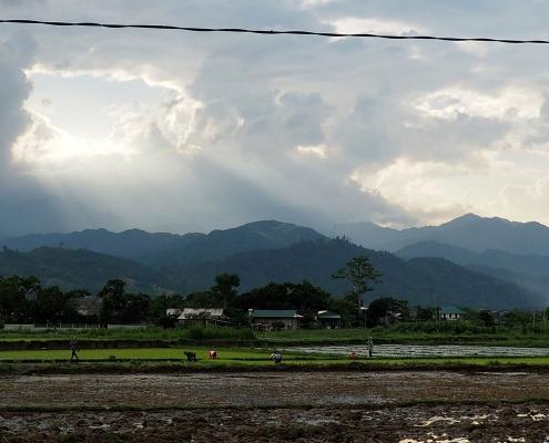 Paysages dans la région de Nghia Lo