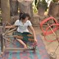 Tissage de coton au Laos