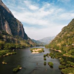 Rivière Nam Ou à Nong Khiaw