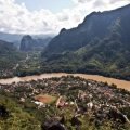 Panorama sur la ville de Nong Khiaw