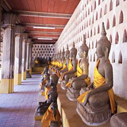 Statues de Bouddha au Wat Sisaket à Vientiane