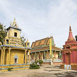 Temple à Kompong Cham au Cambodge