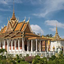 Palais Royal de Phnom Penh au Cambodge
