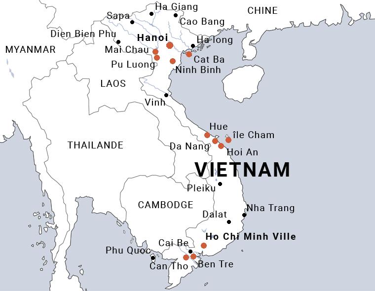 Carte Vietnam en famille