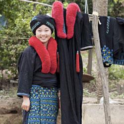 Femme ethnique dans la réserve de Luang Namtha au nord Laos
