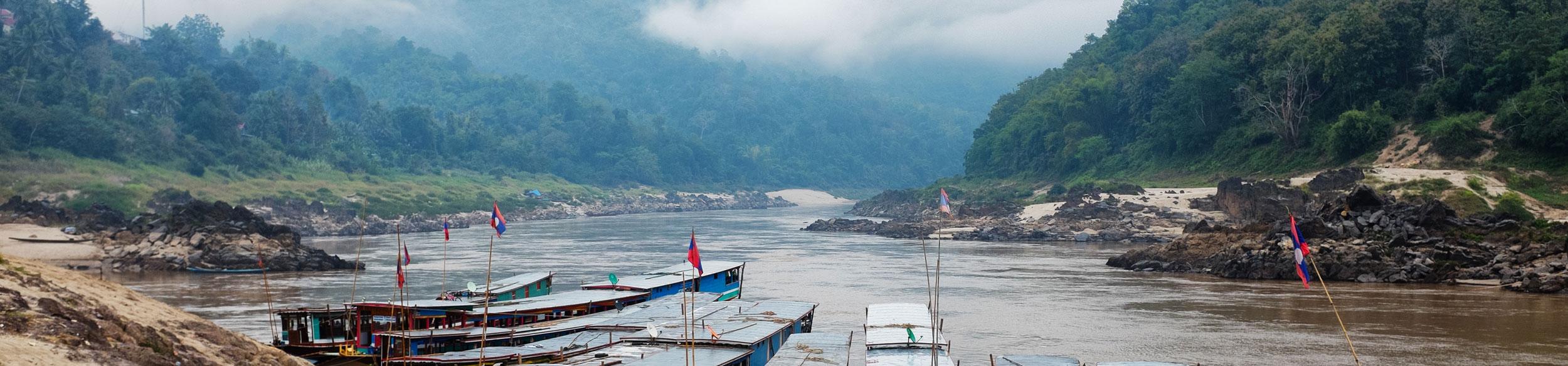Rivière dans la région de Pakbeng