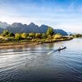 La rivière à Vang Vieng