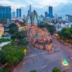 La cathédrale de Notre-Dame à Ho Chi Minh Ville