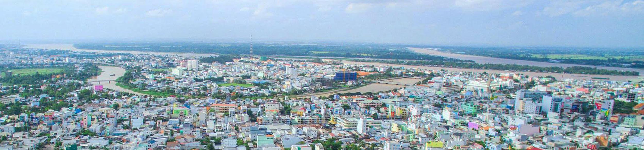 Panorama de la ville de Long Xuyen