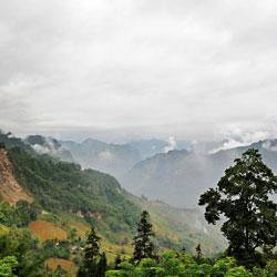 Paysage de montagne à Ha Giang