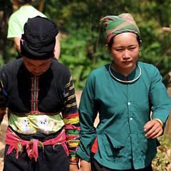 villageois de l'ethnie Lolo dans la province de Cao Bang