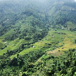 panorama dans la région de Hoang Su Phi
