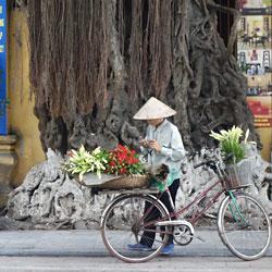 vendeur ambulant dans les rues de Hanoi capitale du Vietnam