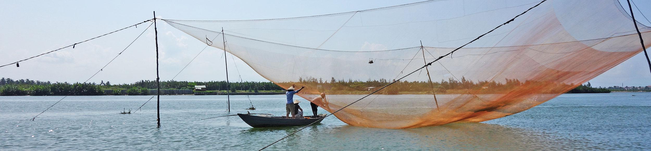 pêche au carrelet à Cam Thanh à Hoi An