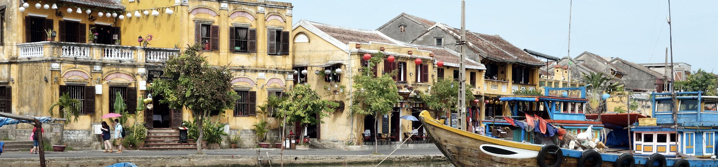Quai de la vieille ville de Hoi An au Vietnam