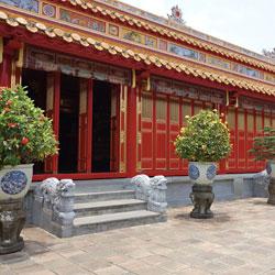 Bâtiment de la cité impériale de Hué an centre Vietnam