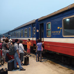 arrivée en train à la gare de Lao Cai