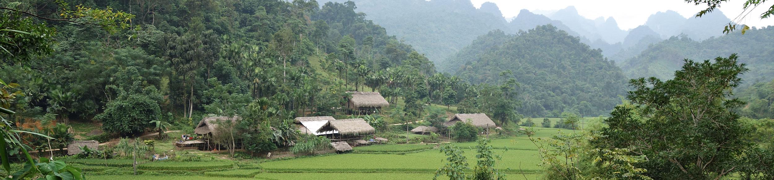 Village ethnique dans la province de Tuyen Quang au Vietnam