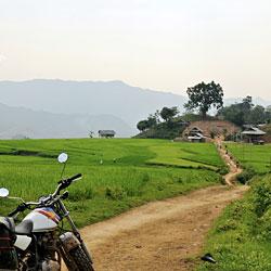 Moc Chau au Vietnam en moto