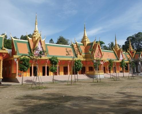 Temple Khmer dans le delta du Mékong