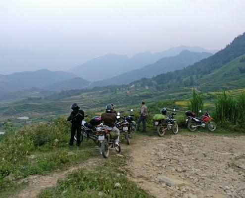 Panorama sur le village de Nam Dam