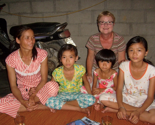Maryse et sa filleule à Hué