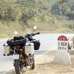 Dien Bien Phu au Vietnam à moto