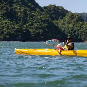 Kayak dans la baie de Lan Ha avec Perla Dawn Sails