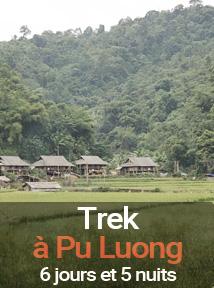 trek dans la réserve de pu luong au Vietnam, séjour de 6 jours et 5 nuits