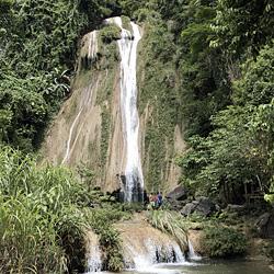 Chute d'eau dans la province de Tuyen Quang au Vietnam