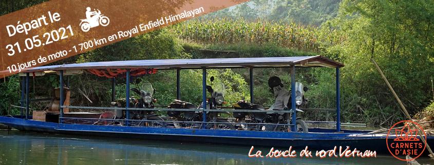 Séjour à moto en groupe au nord Vietnam