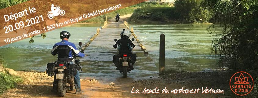 Voyage moto en groupe au nord est Vietnam en Royal Enfield