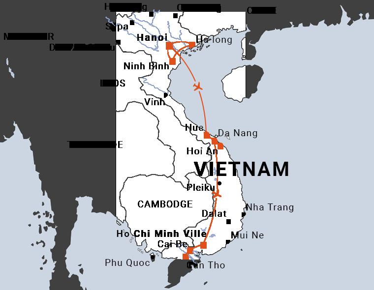 Hanoi Saigon en 10 jours
