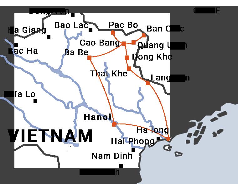 La RC4 ou route coloniale numéro 4 reliant Cao Bang