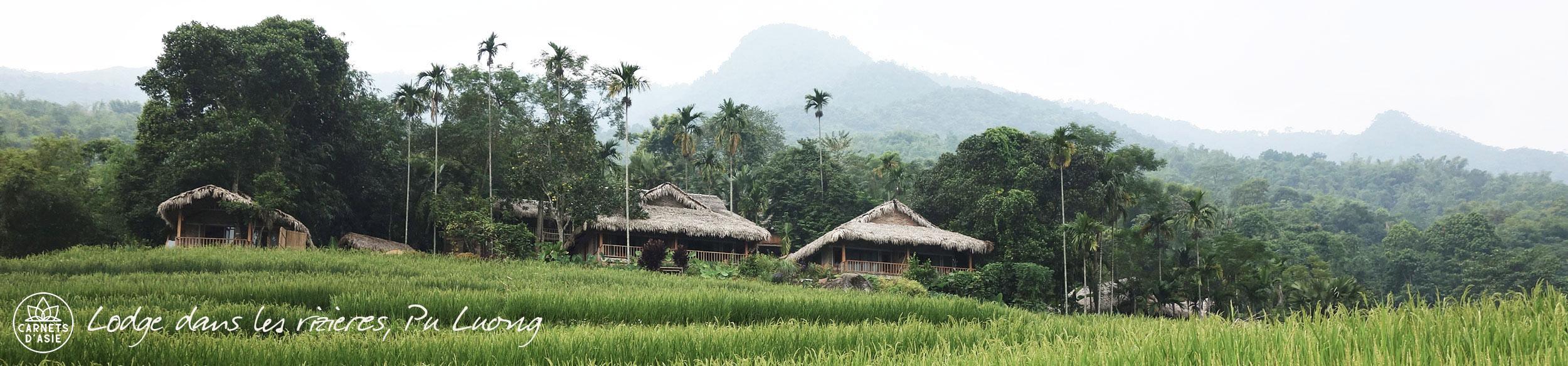 Lodge dans la réserve de Pu Luong au Vietnam